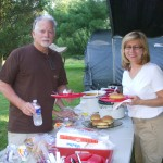 Museum Trustees Mike & Deb Filbert enjoy the potluck meal.