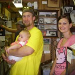 Andrew Robinson (Museum Trustee) with wife, Joni, & daughter Addy in the Museum. This was Addy's first museum she visited!