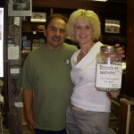 Museum Trustees Zack & Wendy Dolyk in the Museum with our donation jar.