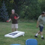 Enjoying a good game of cornhole!