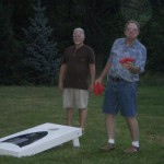 More of the cornhole game.