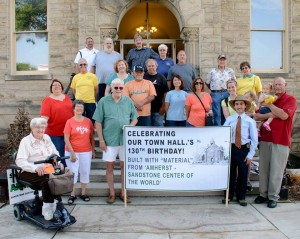 Amherst Historians gather at the Amherst Town Hall to celebrate 130 years of history. Photo courtesy Tim Branscum.