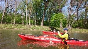 Kayaking to Bungart Island.