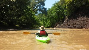Col. Nahorn kayaking down the Vermilion.