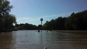 "We took out near Vermilion's historic ""water sphere"" or water tower near the mouth of the River at Lake Erie."